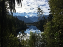 Lake Matheson New Zealand Most memorable travel moment in my life so far OC  X
