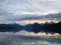 Lake McDonald at Glacier National Park MT this morning