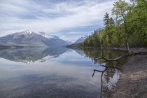 Lake McDonald Glacier National Park Montana US just after the Spring thaw