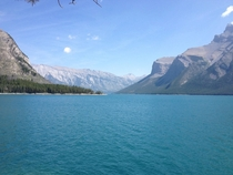 Lake Minnewanka outside Banff Alberta Canada
