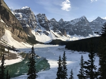 Lake Moraine AB was still mostly frozen last weekend x