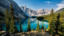 Lake Moraine Banff National Park Canada Photo by Ron Caimano