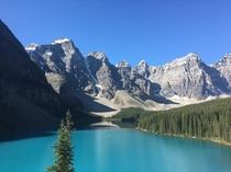 Lake Moraine near Banff Canada