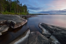 Lake Onega the second largest lake in Europe Republic of Karelia Russia