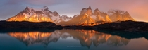 Lake Pehoe Sunrise Patagonia Chile