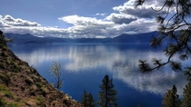 Lake Pend Oreille in northern Idaho Sorry for the quality