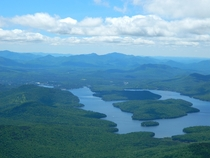Lake Placid from the top of Whiteface Mtn Adirondacks NY