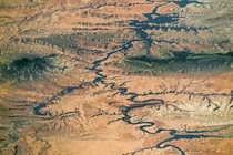 Lake Powell and Grand Staircase-Escalante photographed by an astronaut aboard the ISS