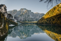 Lake Prags reflections - South Tyrol Italy