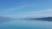 Lake Pukaki and the Southern Alps including AorakiMt Cook m NZs highest mountain - South Island New Zealand