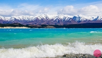 Lake Pukaki NZ on a windy day