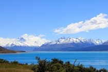 Lake Pukaki NZ on the drive to Mount Cook