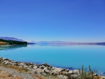 Lake Pukaki with Aorakimount Cook in the distance  x  OC
