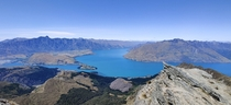 Lake Queenstown from the top of Ben Lomond NZ