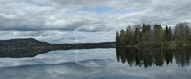 Lake Saxen located near the town of Hllefors in Dalarna Sweden