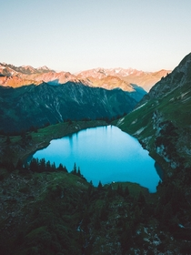 Lake Seealpsee Oberstdorf Germany  nicoshoot