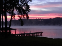 Lake Sinclair at sunrise Georgia