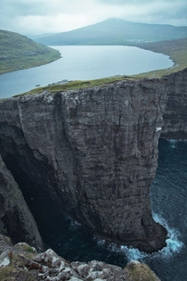 Lake Sorvagsvatn found in the Faroe Islands