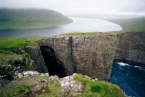 Lake Srvgsvatn on the Faroe Islands