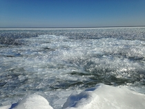 Lake Superior ice Bete Grise Bay March th