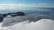 Lake Superior in the winter  X