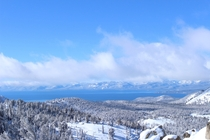 Lake Tahoe basin after a winter storm