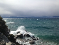 Lake Tahoe before a storm east shore