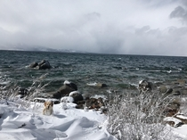 Lake Tahoe This is Zephyr Cove in the winter