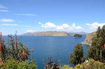 Lake Titicaca as seen from a Bolivian island