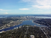 Lake Union and Seattle Washington in