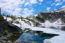 Lake Vivienne Enchantment Lakes Washington State USA