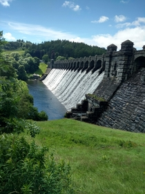Lake Vyrnwy Dam Overflowing