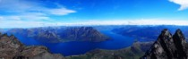 Lake Wakatipu from the Summit of The Remarkables New Zealand -