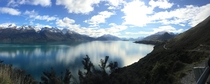 Lake Wakatipu outside of Queenstown NZ looking towards pig and pigeon island