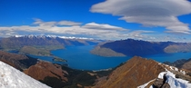 Lake Wakatipu - South Island New Zealand - as seen from Ben Lomond summit