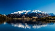 Lake Wanaka with Mount Alta as backdrop NZ