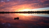 Lake Wilcox of Richmond Hill Ontario Canada My girlfriend and I watched the sunset together and we were able to witness this beauty