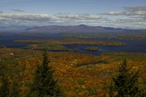 Lake Winnipesaukee from Mt Major New Hampshire