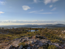 Lakes and fells in the Finnish Lapland Srkitunturi Finland