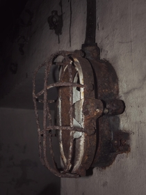 Lamp in an abandoned bunker of the Maginot Line