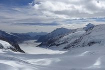 Landscape seen from the Jungfrau summit
