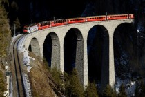 Landwasser Viaduct in Graubunden Switzerland