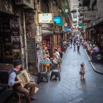 Laneway coffee culture Centre Place Melbourne Photo by Joseph Ip  x-post rAustraliapics