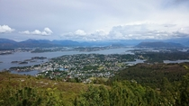 Langevg Norway from the overlying mountain