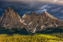 Langkofel Group in the Dolomites South Tyrol Italy - photo by Hans Kruse
