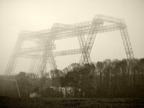 Langley Gantry in the Early Morning Mist