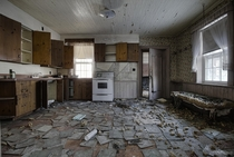 Large Decaying Kitchen Inside an Abandoned Ontario Farm House