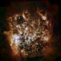 Large Magellanic Cloud Herschel Space Observatory   MB  Interactive hyper zooming amp browserdevice friendly link in comments x-post rHI_Res