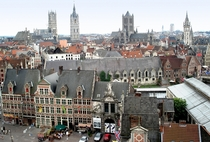 Largely spared from damage during the World Wars the Belgian city of Ghent has retained much historical architecture