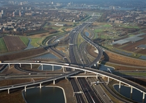 Largest interchange in the Netherlands consisting of four levels Ridderkerk